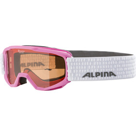 Alpina Piney Gogle Dzieci, rose-white/orange